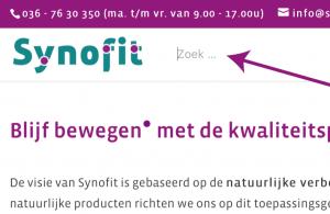 zoekbalk synofit.nl