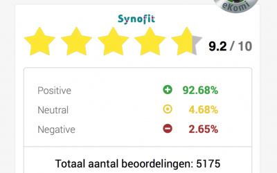 Meer dan 5000 reviews van de Synofit-webshop