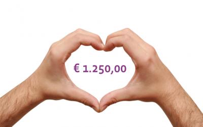Synofit doneert € 1.250,00 aan ReumaNederland