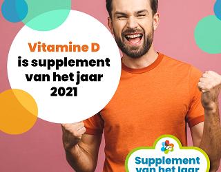 Vitamine D is Supplement van het Jaar 2021